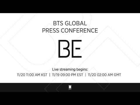 BTS (방탄소년단) Global Press Conference 'BE' (+ENG)