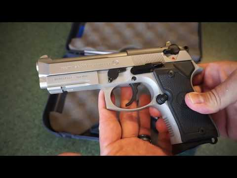 Beretta 92FS Compact inox finish tabletop review! M9A1