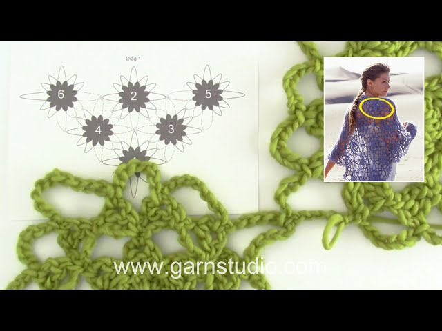 How to crochet square in DROPS 94-7