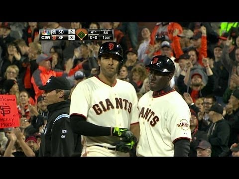 Morse singles in a pair, gives Giants the lead