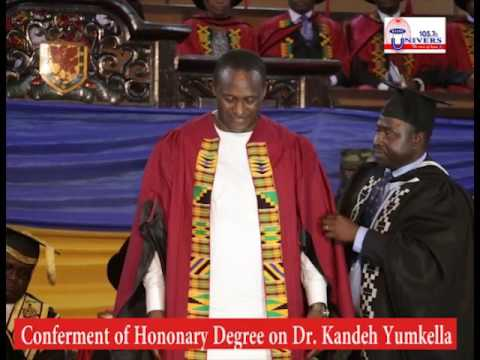 University of Ghana confers Honoray Degree on Dr  Kandeh Yumkella