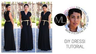 Easy DIY Maxi Dress Tutorial! Mimi G For Michael Levine Inc.