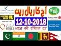 Today Saudi Riyal Currency Exchange Rates - 12-10-2018 | Tahweel al Rajhi | Enjaz | Fawri | NCB