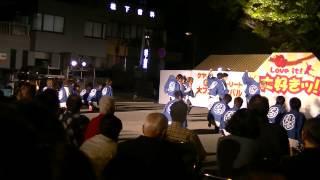 福井大学よっしゃこい2013年度演舞「夢光咲」 むこうへ 福井駅前東...