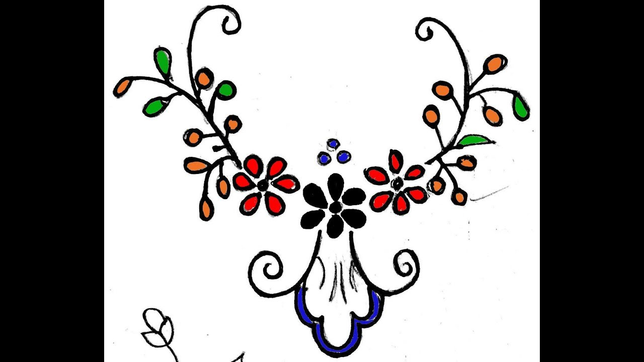 Freehand Designs For Embroidery Drawing Painting