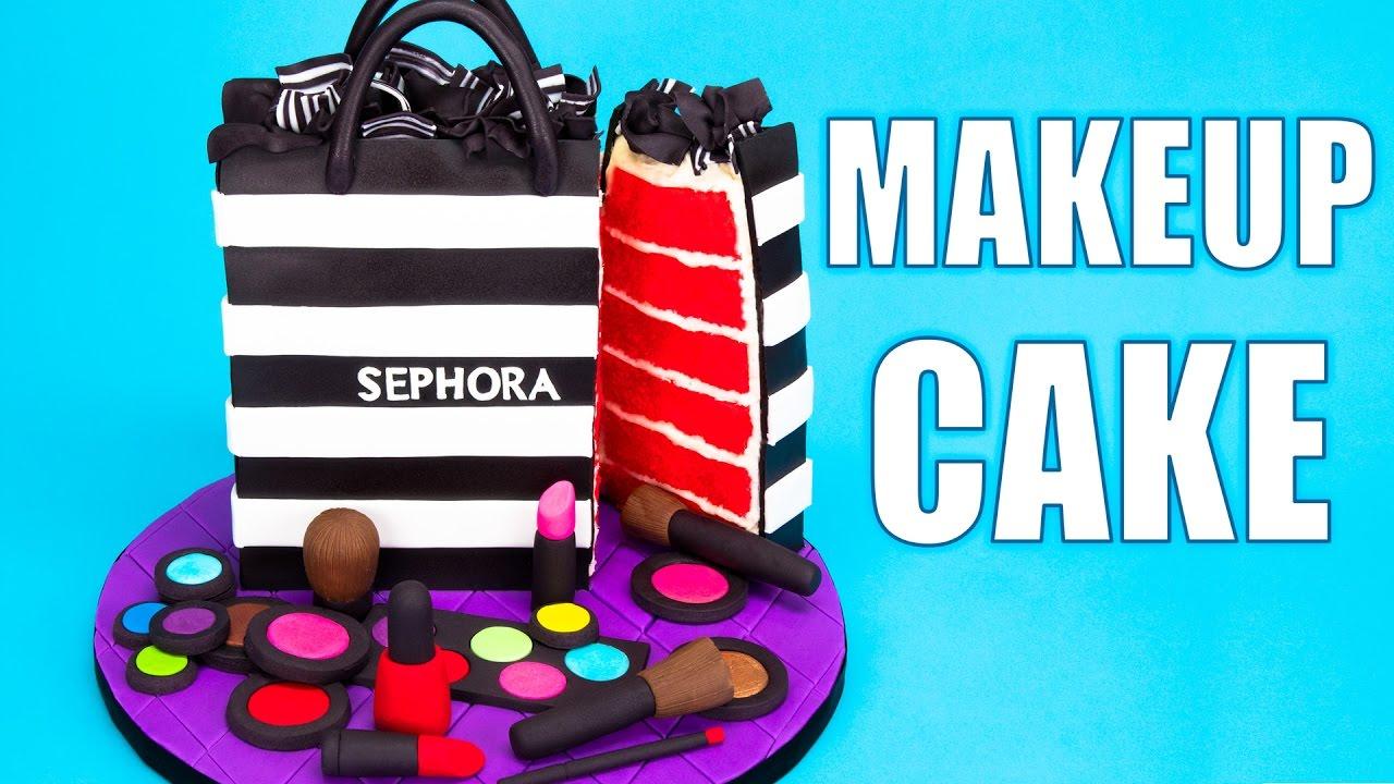 392747bd0fe How to Make a Sephora Makeup Cake Tutorial - YouTube