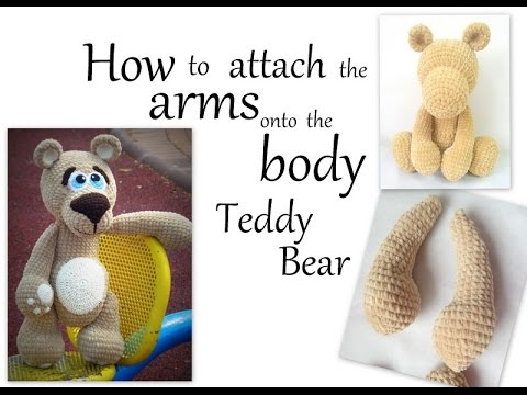 Amigurumi Arms Pattern : How to sew the arms onto the body of Amigurumi Teddy Bear ...