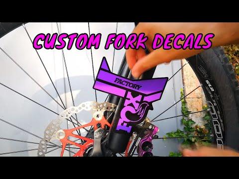 2016 Fox Factory-34 Fork Decal Set Violet