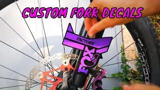 New custom FOX 40 stickers decals mtb bike