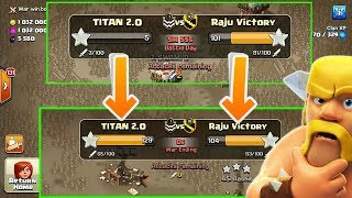 We Won WAR In JUST 5 MINUTES 😵! TITAN 2.O FIRST WAR! Clash of clans
