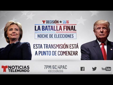 Noche de Elecciones y Resultados 2016, H. Clinton vs D. Trump | Noticias | Noticias Telemundo
