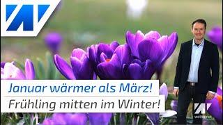 Rekordwinter! Der Januar 2020 ist wärmer als ein normaler März!