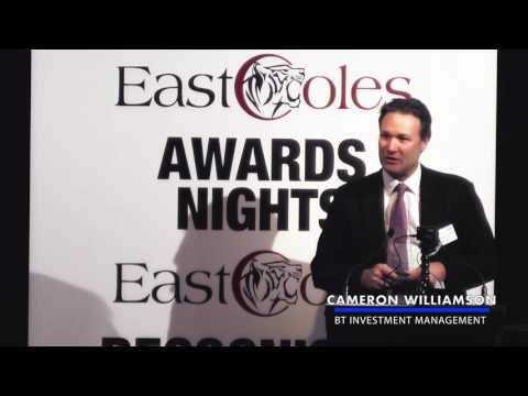Cameron Williamson - Best Financials CFO - 2016 East Coles Corporate Performance Awards