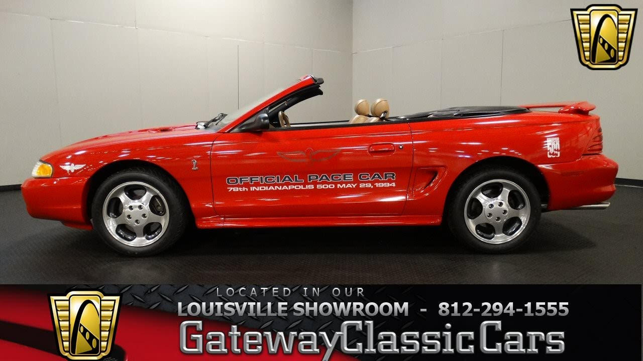 1994 Ford Mustang Cobra Indy Pace Car Louisville Showroom Stock 1481