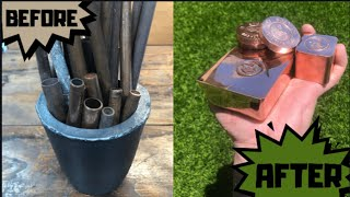 Pipes To Perfection - Molten Copper Pours - Trash To Treasure - ASMR Metal Melting