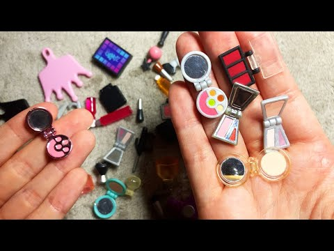 ASMR Miniature Makeup Haul (Whispered)