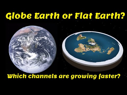 Which Is Growing Faster?: Flat Earth Channels or Globe Earth Defender Channels thumbnail