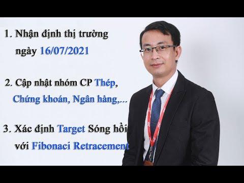 Chứng khoán hàng ngày: Nhận định thị trường ngày 16/07/2021. Xác định target sóng hồi với Fibonaci