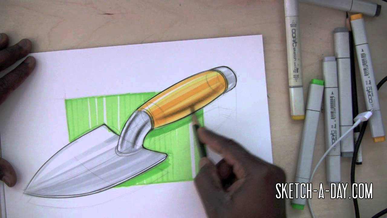 Sketch a day 375 garden spade youtube