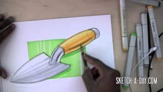 Sketch-A-Day 375: Garden Spade