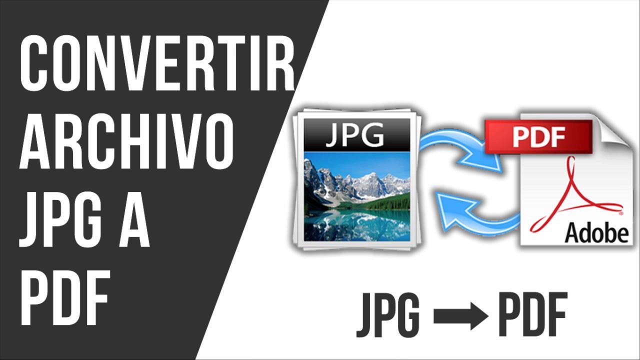 Como Convertir JPG a PDF Sin Programas - YouTube