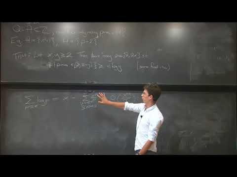 The distribution of primes and zeros of Riemann's Zeta function - James Maynard
