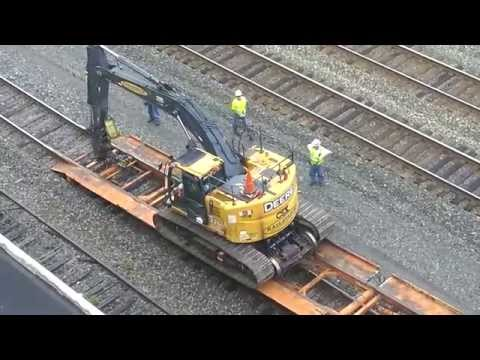 Thumbnail: CSX Loading Track Maintenance Vehicles onto Train