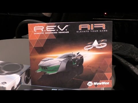 REV Air by WowWee First Look.  Robotic Enhanced Vehicles AIR at CES Unveiled 2015