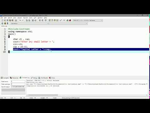 Lecture# 15 Convert Small letter to Capital Letter| C++ Programming Tutorials in Urdu thumbnail