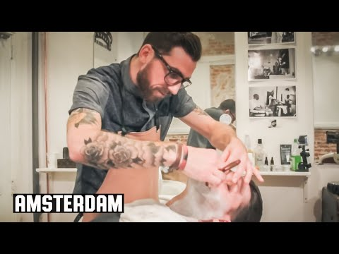 The Amsterdam Wet Shave - HairCut Harry Experiences Cut Throat Barber and Coffee Amsterdam Holland