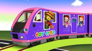Toy Train Cartoon for Kids - Toy Factory Kereta Api