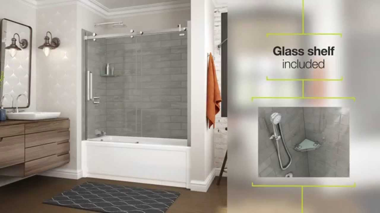 Utile By MAAX Shower Wall Panels YouTube - Fake tile panels for bathroom walls