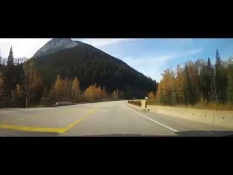 Driving on Trans-Canada Highway through the Rocky Mountains Part 3 (Revelstoke)