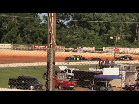 07/14/2018 East Lincoln Speedway Stock 4 Heat 2. #99 Hilton 4th