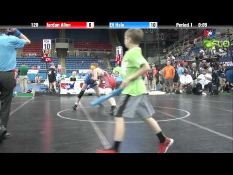 Junior 120 - Jordan Allen (West Virginia) vs. Eli Hale (Oklahoma)