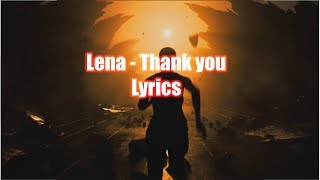 Lena - Thank you || LYRICS