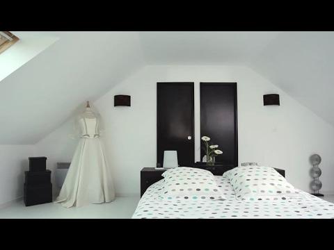 Жилая мансарде в белом цвете