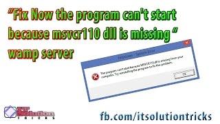 wamp msvcr110.dll missing