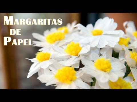 Margaritas De Papel Manualidad Muy Facil Youtube