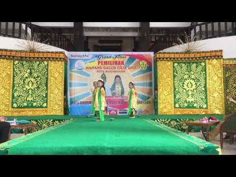 Tari Radap Rahayu di Nanang Galuh Cilik Banjarmasin 2017