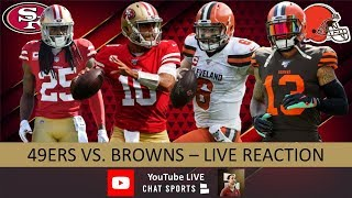 49ers vs. Browns Live Stream Reaction & Updates On Highlights For NFL Monday Night Football Week 5