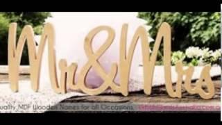 Wood Letters Wholesale