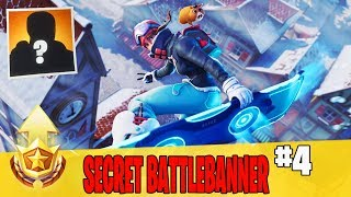 Secret Week 4 Battle Banner Location Guide in Fortnite // FREE Battle Pass Banner in Season 7