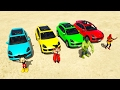 Learn 4 Colors SUV Cars + Jumping Spuperhero Video for kids and children.