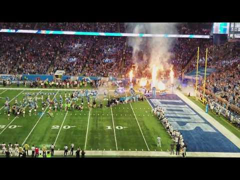 Detroit Lions Vs Atlanta Falcons, Super Game Introduction (4K) ! 9-24-17. Controversial Game Ending