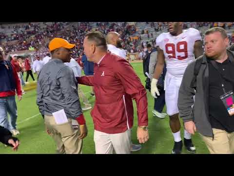Follow Butch Jones as he celebrates Alabama win over Tennessee
