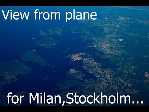 Trip to Europe and View From the Plane for Kishinev, Milan, Stockholm, Kiev