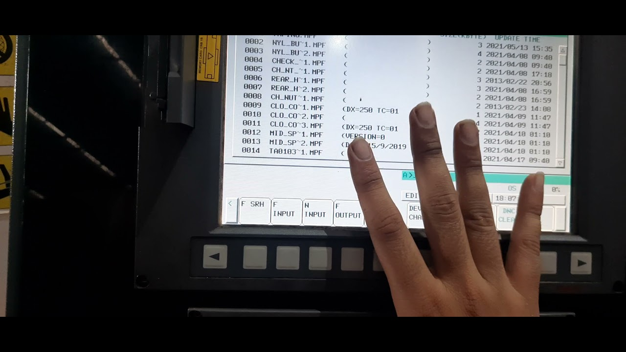 Copy programme from memory card to cnc fanuc controller | cnc machine me programme kese input kare