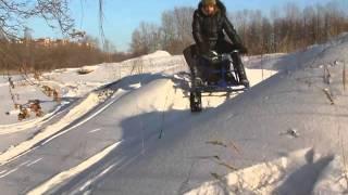 Мини-снегоход «Хаски». 2011(Сборно-разборный мини-снегоход для любителей зимней рыбалки и отдыха. Официальный сайт - www.myhaski.ru., 2011-09-27T06:06:04.000Z)