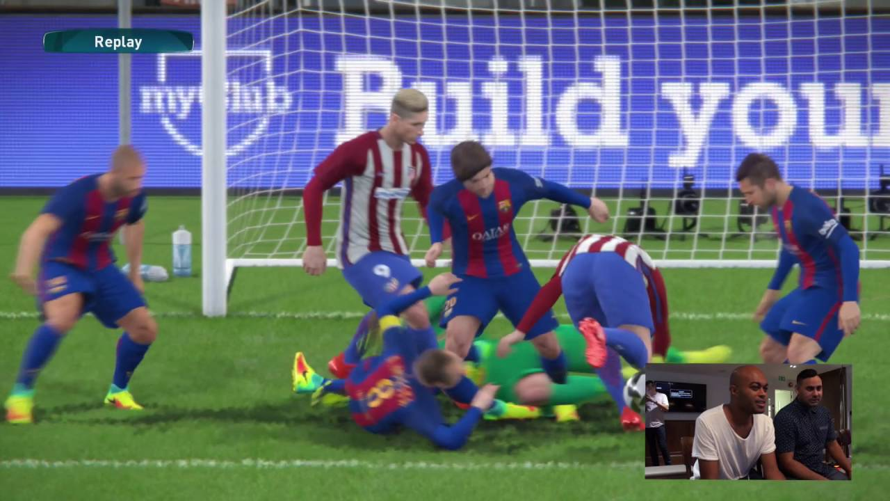 PES 2017 Gameplay - Barcelona vs Atletico Madrid